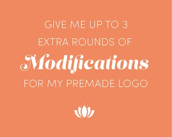 Add on for up to 3 more rounds of modifications for Pre-made Logo Design