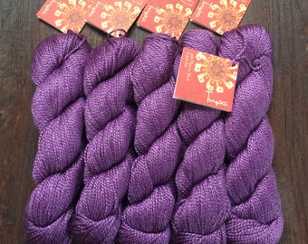 Mirasol TUPA Silk Merino DK Yarn Amethyst Purple 8.99 +1.25ea to Ship Lasting Color, Sheen, Form. Free Tupa Patterns. MSRP 12.00