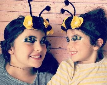 Bumblebee Flower Crown, 100% Merino Wool Felt