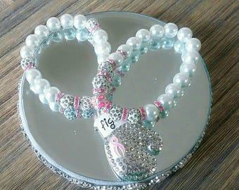 Breast Cancer Awareness Bracelet Set (Fight4)