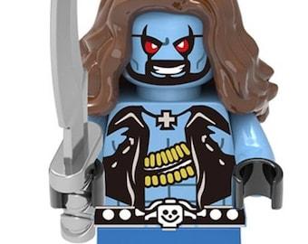 LOBO! Custom Minifigure 100% Lego Compatible! DC Comics Justice League Character