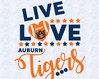 auburn university tigers svg, live love tigers, dxf, clipart, studio file, svg, vector, cricut, silhouette cameo