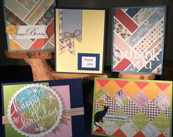 Handmade Greeting and Note Cards - Birthday and Thank You