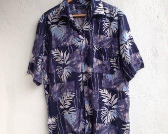 Ermenegildo Zegna Sport Floral Linen Shirt Aloha Hawaiian Size L