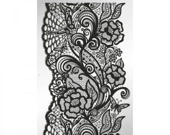 Butterfly Lace - stamping plate
