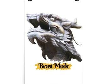 Cool Beast Mode Fantasy Dragon