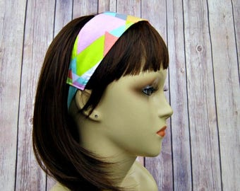 Reversible Headband - Headband for Women - Adult Headband - Womens Headband - Handmade Fabric Headband - Paisley and Tutti Fruiti