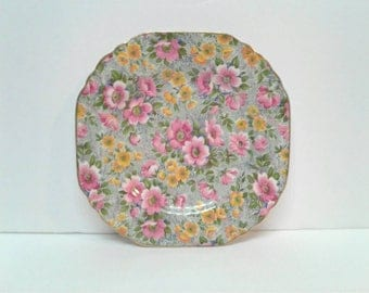 """Free Shipping Lord Nelson Ware Chintz """"Briar Rose"""" Plate"""