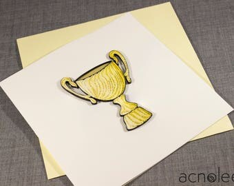 Quilled Congratulations Trophy Card