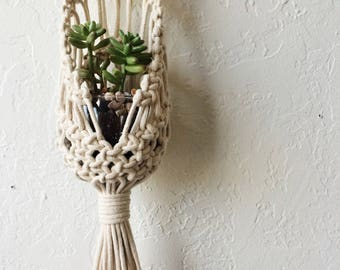 Macrame Hanging Plant Pouch Tutorial Download for Beginners | Macrame Pattern Download Hanging Planter | Macrame DIY | Macrame Wall Hanging