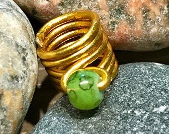 Loc Jewelry By Cabby - Loc Jewelry Gold Wire Wrapped Beaded Hair Jewelry | Hair Jewelry For Locs | Dread Beads | Faux Locs Jewelry