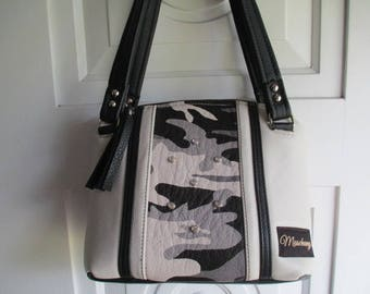 Camouflage Black & White Leather Purse