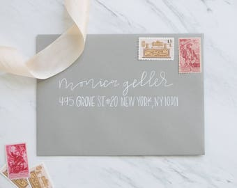 "Custom Envelope Addressing | Wedding Envelope Addressing | Wedding Calligraphy | Event Calligraphy | Envelope Calligraphy | ""Geller"" Style"
