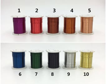 0.3mm 28 Gauge Artistic Wire 10 Colors Metal Wire Copper Wire Craft Wire Jewelry Making Wire Spool 10meters/10.9yards/32.8feet