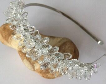 Headband crystals. Headband for hair. Tiara handband. Bridal accessories.