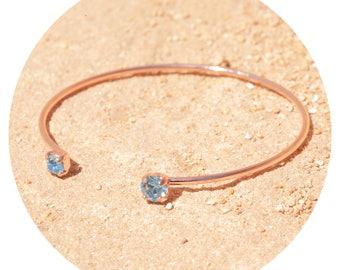 artjany bracelet aquamarine rose gold