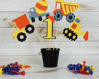 5pc Construction Themed Centerpiece