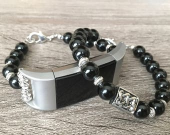 Luxury Set Bracelets for Fitbit Charge 2 Fitness Activity Tracker Handmade Fitbit Charge 2 Onyx Band Perfectly Tailored to Fit Your Wrist