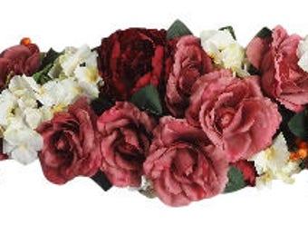 "50""  Rose Peony Hydrangea Swag"