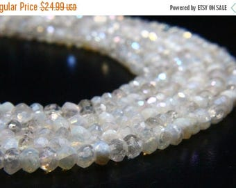 "65% OFF SALE 13"" Full Strand Mystic Rainbow Quartz Rondelle , Approx 4mm Rondelles, Rainbow Beads Drilled Gemstone Faceted Rondelles"