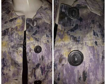 Vintage Chico's Denim Jacket Jean Medium Size.