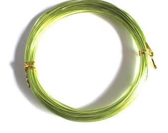 10 meters wire wheels Green 1 mm reel