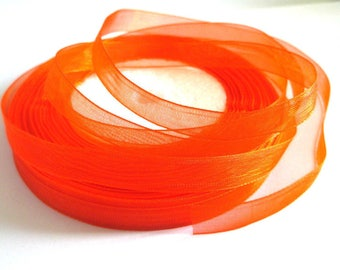10 m 10mm orange organza Ribbon