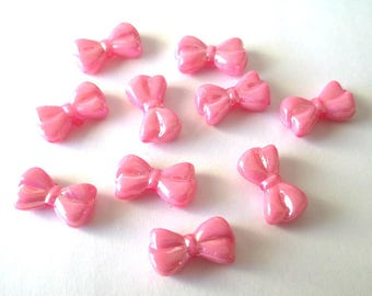 10 acrylic Butterfly pink color 18 x 10 x 6 mm