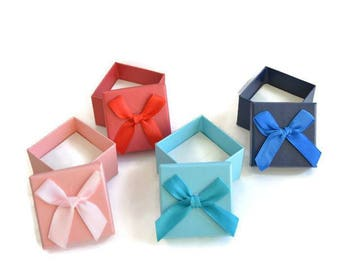 4 boxes box for rings mix color 37mm