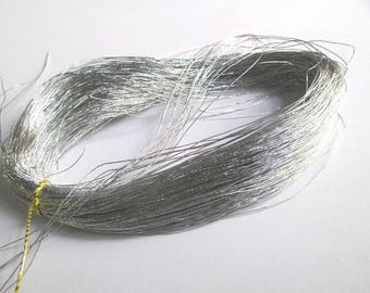 10 m silver 0.5 mm nylon thread