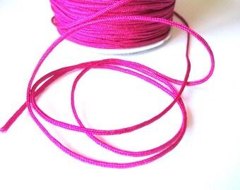 5 m fuchsia braided 1.5 mm nylon thread