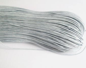 10 meters of thread waxed cotton gray 0.7 mm