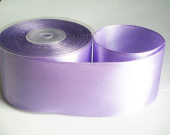 1 m 50mm purple satin ribbon