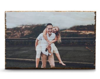Photo on Wood - Any Size | Custom Wood print | Engagement Gift | Unique gift | Wedding Gift | Wedding Signs | Valentines Day Gift for Him