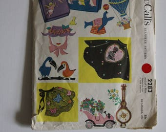 McCalls Transfer Patterns - 10 Vintage Motifs from 1958!!!  Classic Crafts!!!