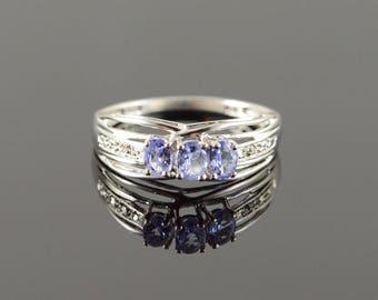 10k 0.34 CTW Tanzanite Diamond Ring Gold