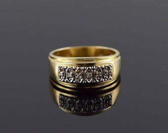 14k 0.05 CTW Diamond Wedding Band Ring Gold