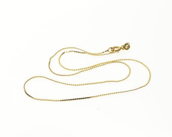 14k 1.1mm Rolling Cable Link Chain Necklace Gold 15.25""