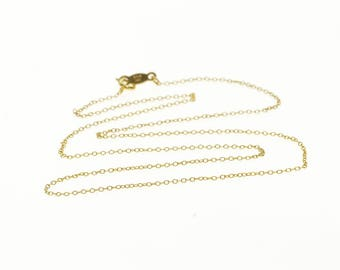 """14k 1.0mm Cable Link Fancy Chain Necklace Gold 16"""""""