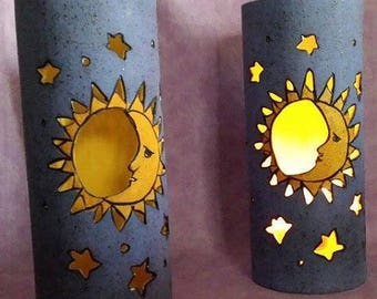 Stars and Moon Votive/tealight Candle holder