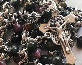 Tourmaline chainmail rosary