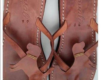 Beagle Sandals  Lover Gift Handmade Sandals Flip Flops Shoes