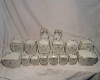 Vintage Porcelain Kitchen Set - 16 parts