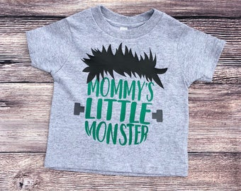 Mommy's Little Monster Halloween Toddler Boy Shirt