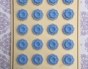 Vintage Buttons Floral 60s Mint on card.