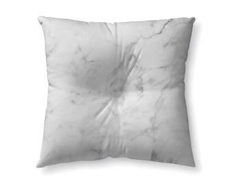White Marble - floor pillow