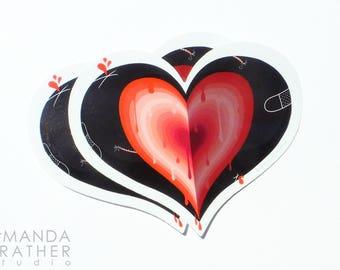 Gushing Heart Sticker