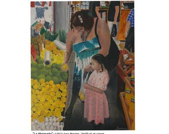 "Puerto Rican Art Poster - ""La Marqueta"""