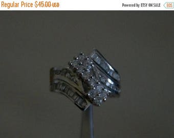 ON SALE Bold CZ Silver Ring