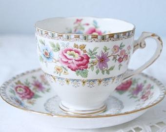 Vintage Royal Grafton 'Malvern' Gentleman Size Cup and Saucer, England